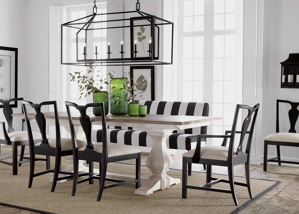back to black and white dining room | ethan allen