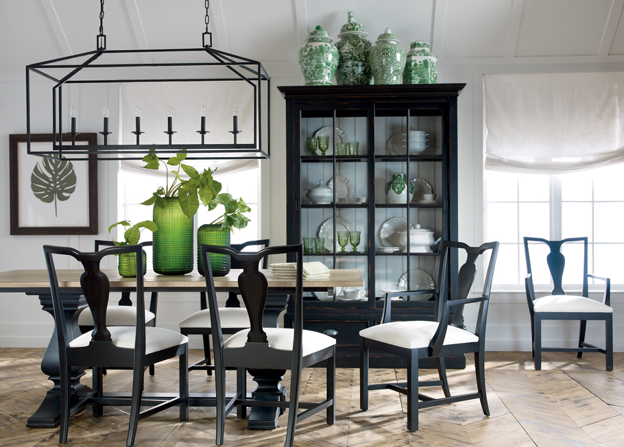 Back To Black And White Dining Room Ethan Allen - Black and white dining room
