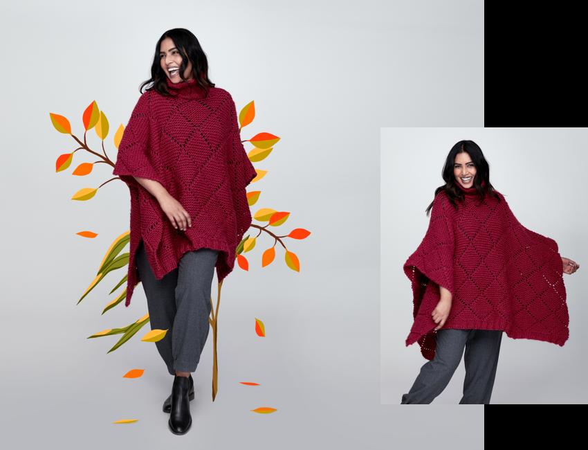 free-knitpattern-knitlatticestitchponcho